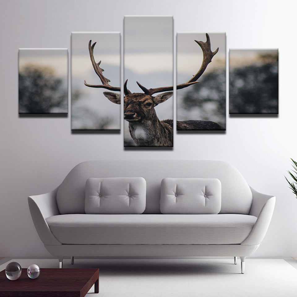 Deer Five Piece Canvas