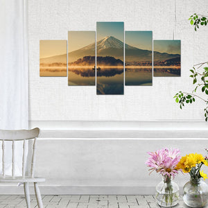 Mount Fuji Five Piece Canvas