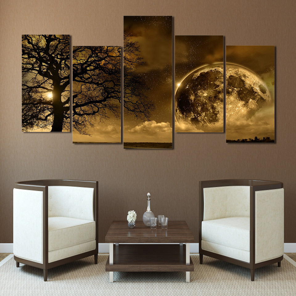 Earth Tree Five Piece Canvas