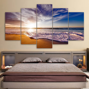 A Day At The Beach Five Piece Canvas