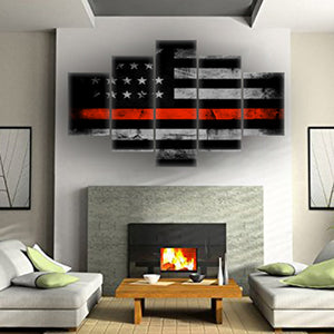 Retro American Flag Five Piece Canvas