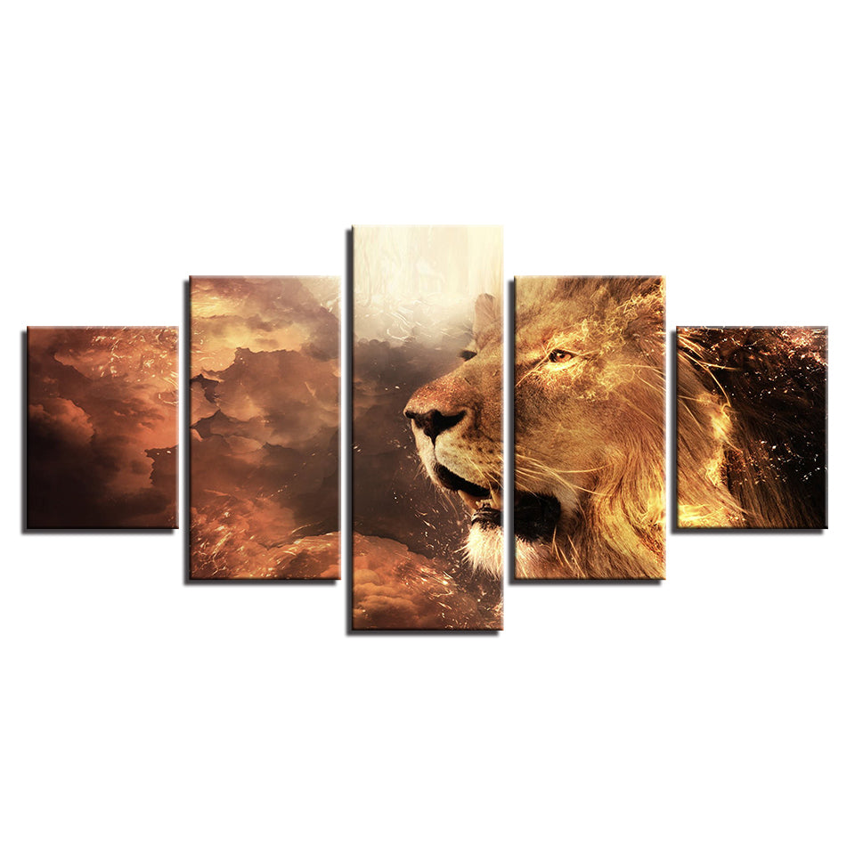Majestic Lion Five Piece Canvas