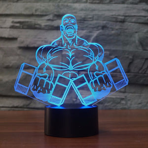 LED Man Curling Weights Lamp
