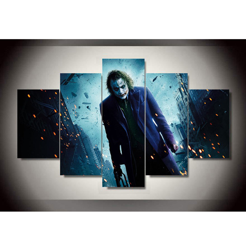 The Joker Purple Coat Five Piece Canvas