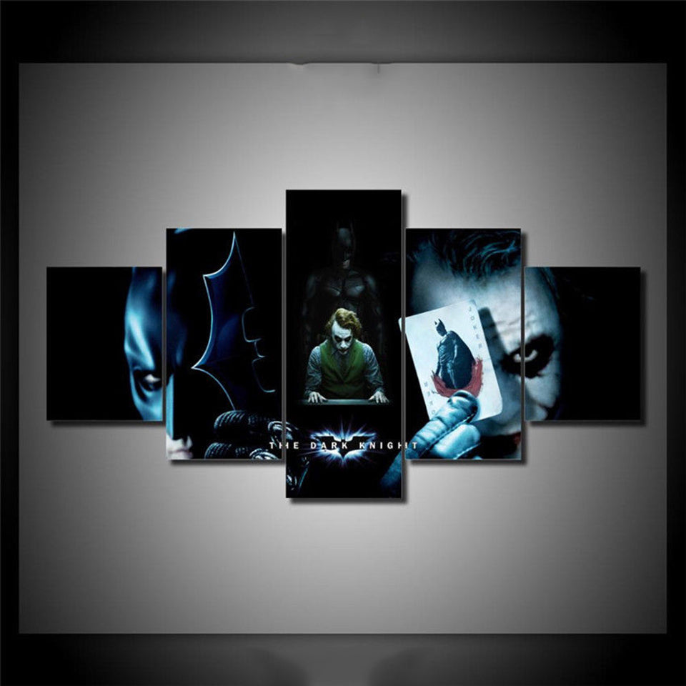 Batman & Joker Five Piece Canvas