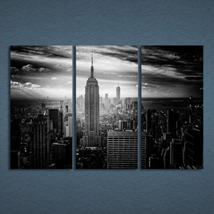 New York City Building Three Piece Canvas