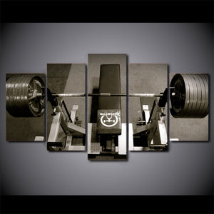 Bench Press Five Piece Canvas