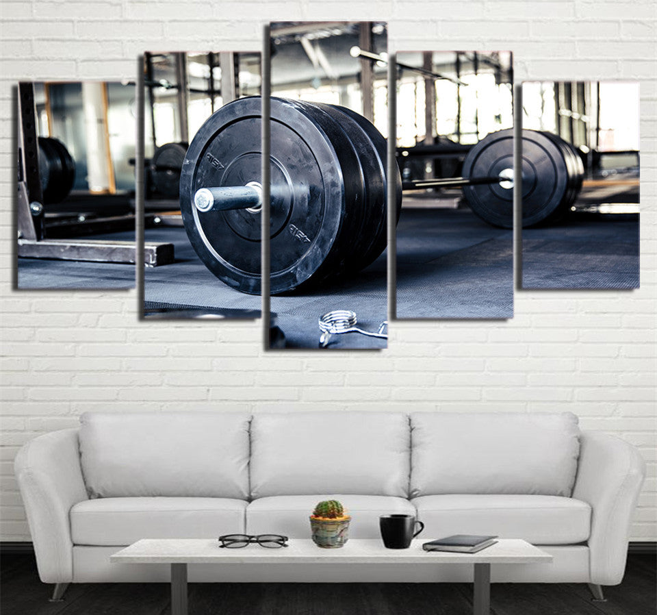 Weightlifting Five Piece Canvas