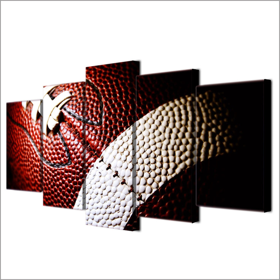 American Football Five Piece Canvas