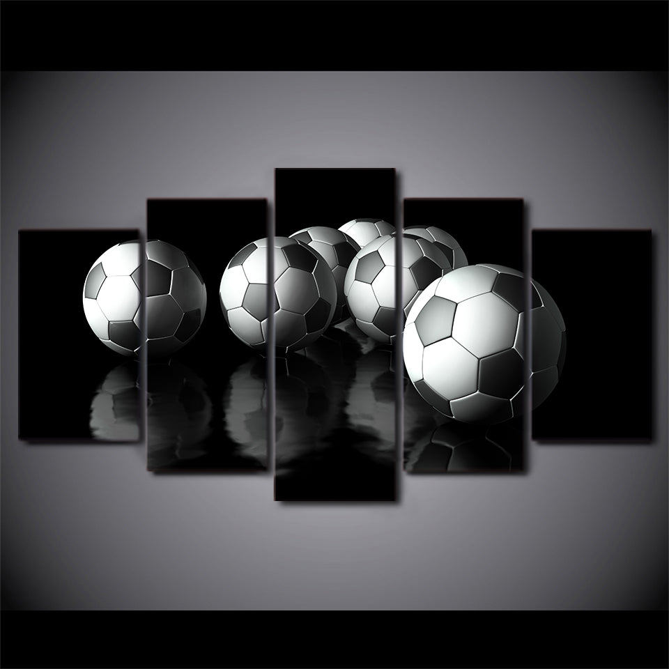 Footy Forever Five Piece Canvas