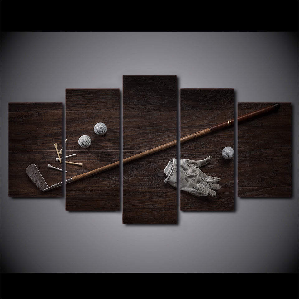 Retro Golf Club Five Piece Canvas