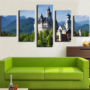Castle On The Hill Five Piece Canvas