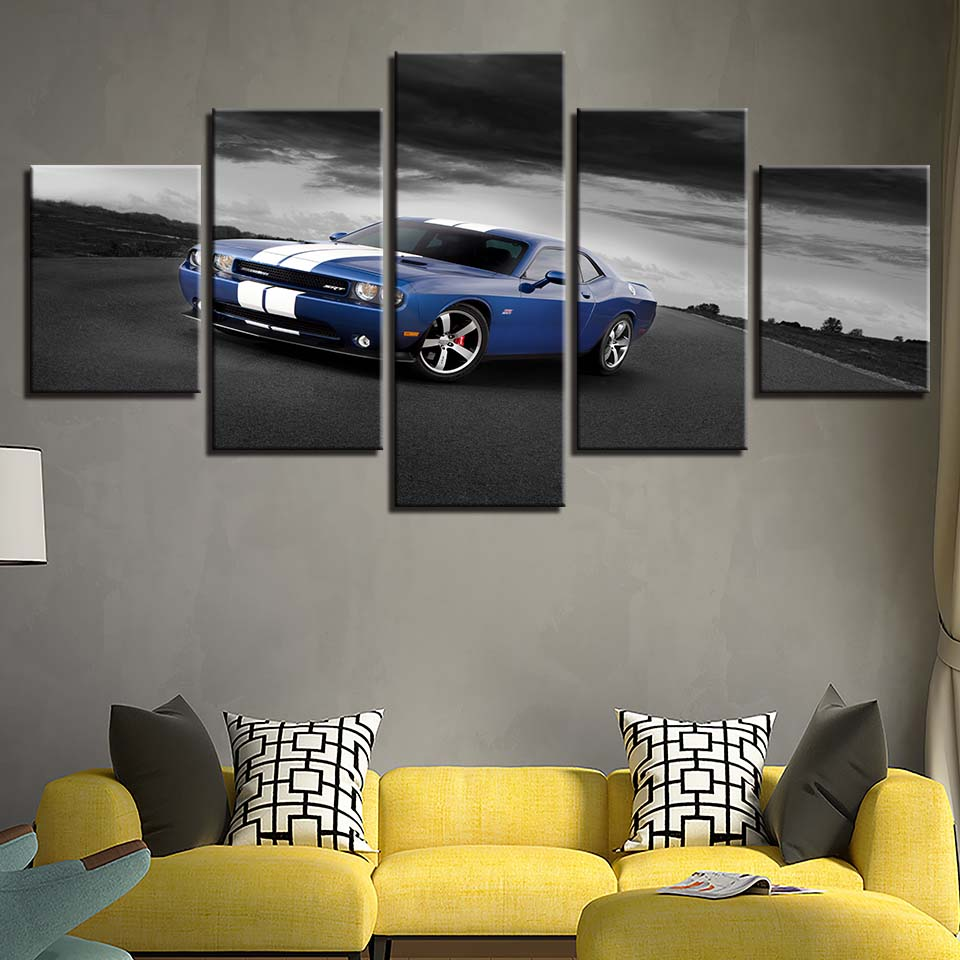Blue Charger Five Piece Canvas
