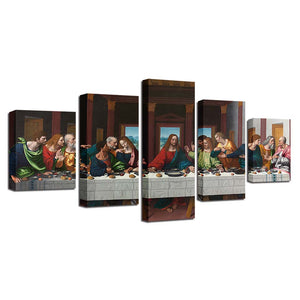 Last Supper Five Piece Canvas