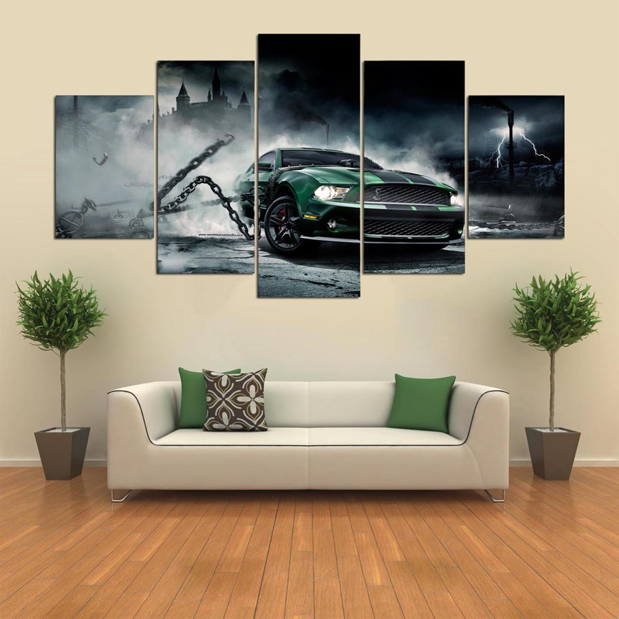 Wild Mustang Five Piece Canvas