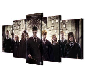Wizard Movie Five Piece Canvas