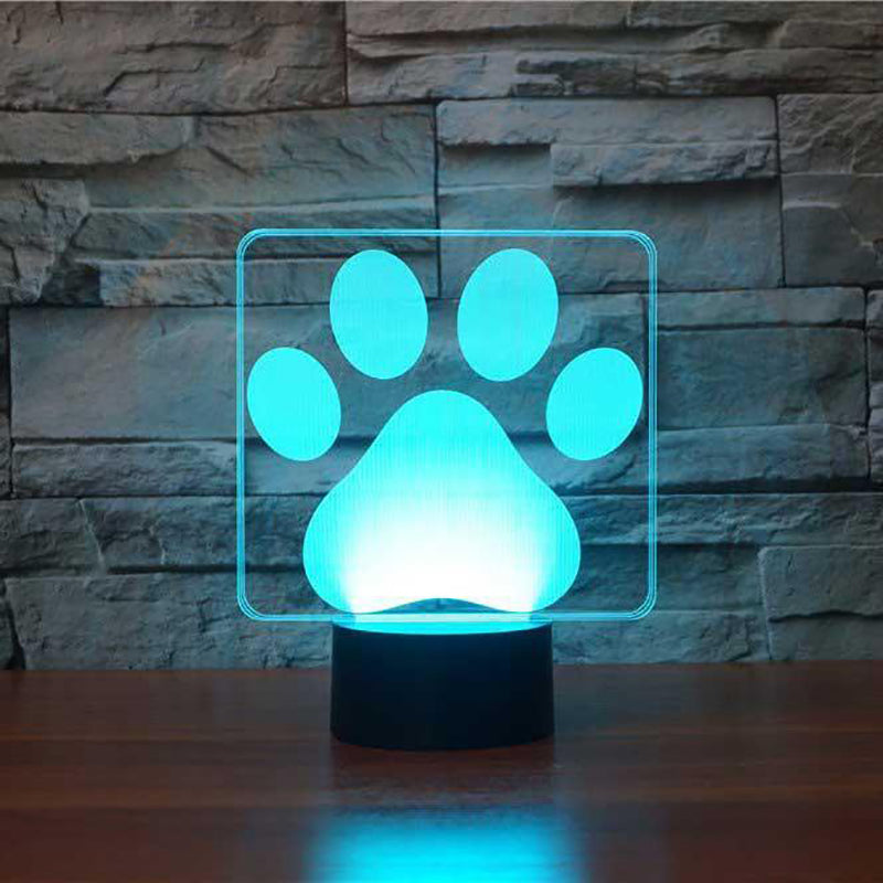 LED Dog Paw Lamp