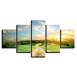 Crisp Air Over The Forest Five Piece Canvas