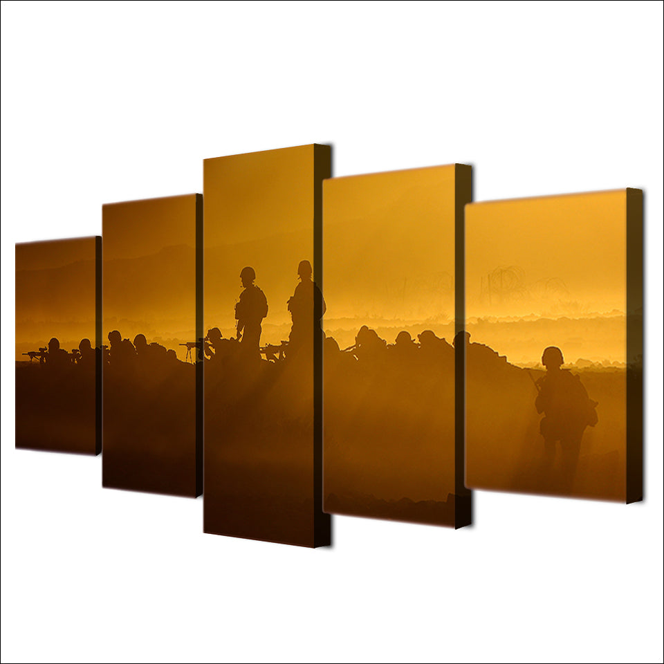Smoke Desert Combat Five Piece Canvas