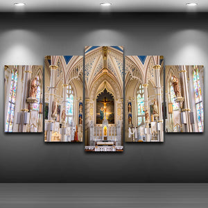 St. Mary Basilica Five Piece Canvas