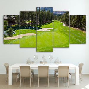 Golf Course Fairway & Green Five Piece Canvas