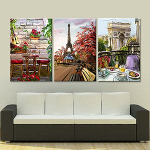Paris City Three Piece Canvas