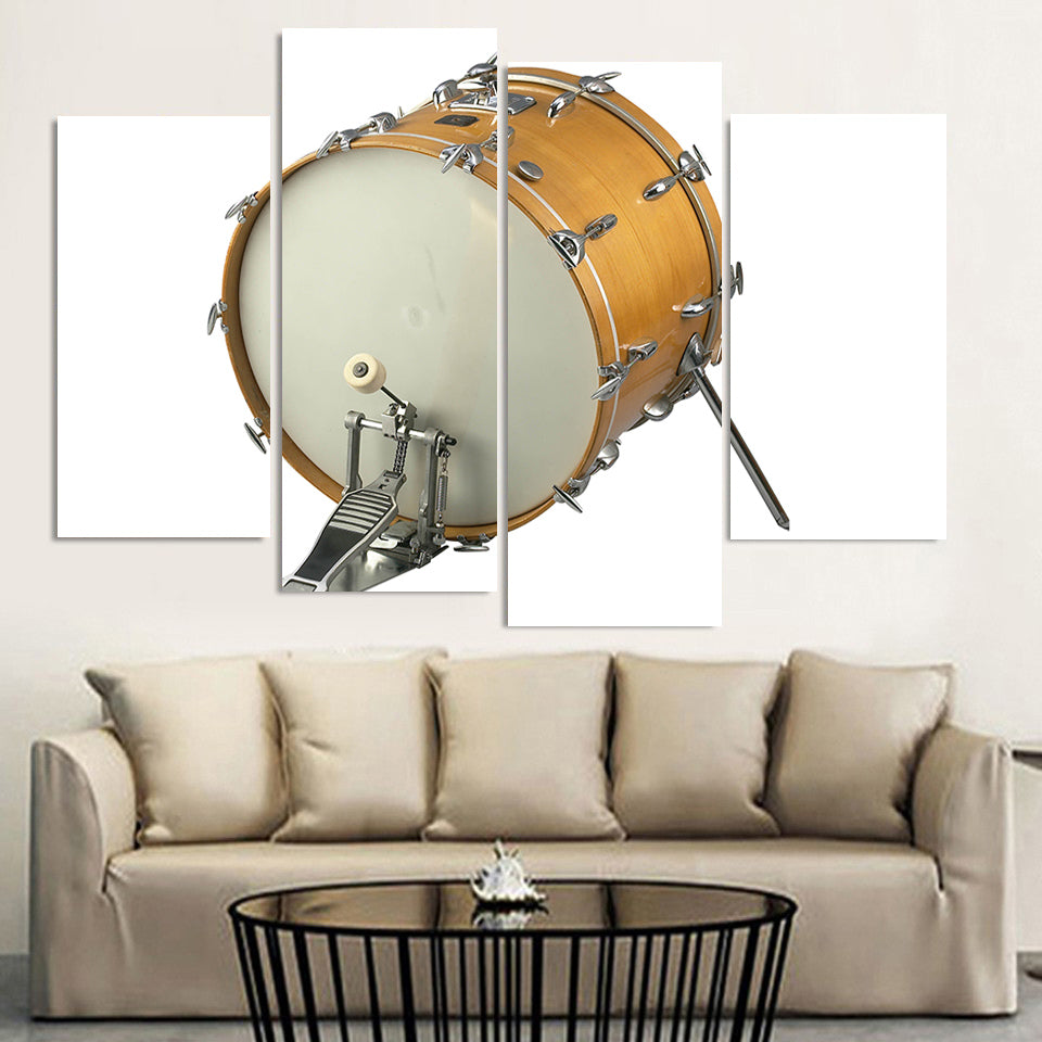 Drum Up Close Four Piece Canvas