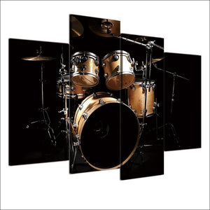 Dark Room Drum Set Four Piece Canvas