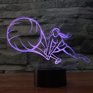 LED Volleyball Player Lamp