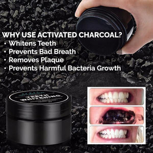 Teeth Whitening Powder Natural Organic Activated Charcoal Bamboo Toothpaste Tool with Tooth Brush 1 Set - New Vado