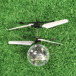 Flight Ball Induction Aircraft Light Mini Heli Toy Shine Musical Shape Gift Children's RC Toy - New Vado