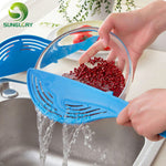 Creative Whale Shaped Plastic Strainer Drainer Rice Fruit Vegetable Wash Colanders Kitchen Gadgets Accessories Cooking Tools - New Vado