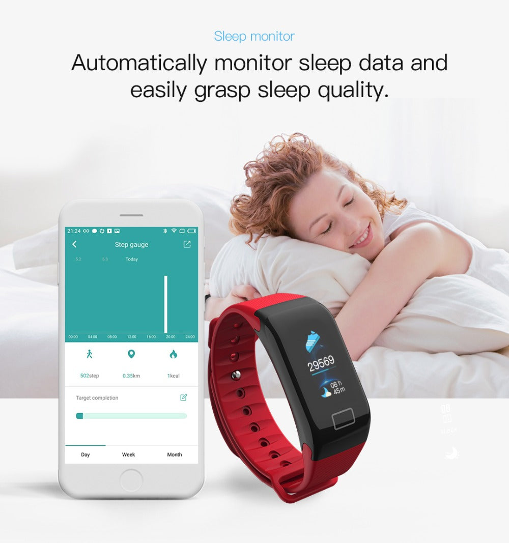 RAVI 2018 Smart Bracelet Watch Heart Rate Blood Pressure Sport Fitness Tracker Wrist Band for Android IOS Phone - New Vado