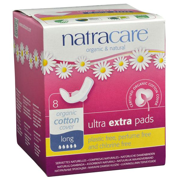 Natracare Ultra Extra Long Panty Liners With Wings Long