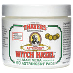 Thayers Witch Hazel Herbal Astringent Pads 60 Count