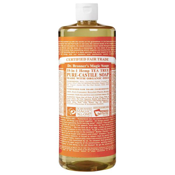 Dr. Bronner's 18-in-1 Tea Tree Castile Soap