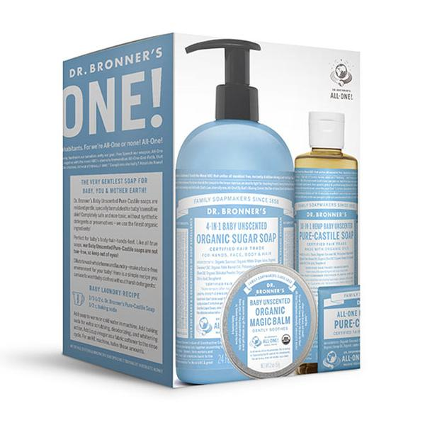 Dr. Bronner's Magic Soaps Baby Unscented Gift Set