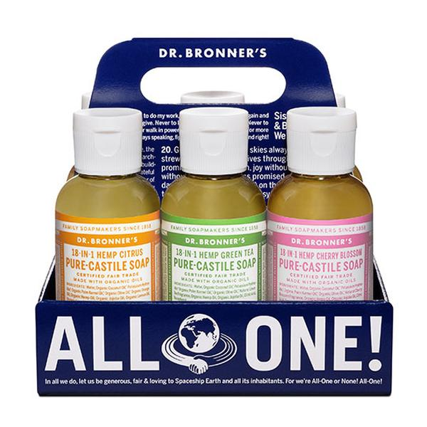 Dr. Bronner's Magic Soaps Pure Castile Liquid Soap Sampler Pack