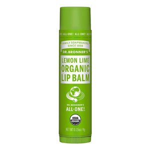 Dr. Bronner's Organic Lemon Lime Lip Balm 0.15 Oz.