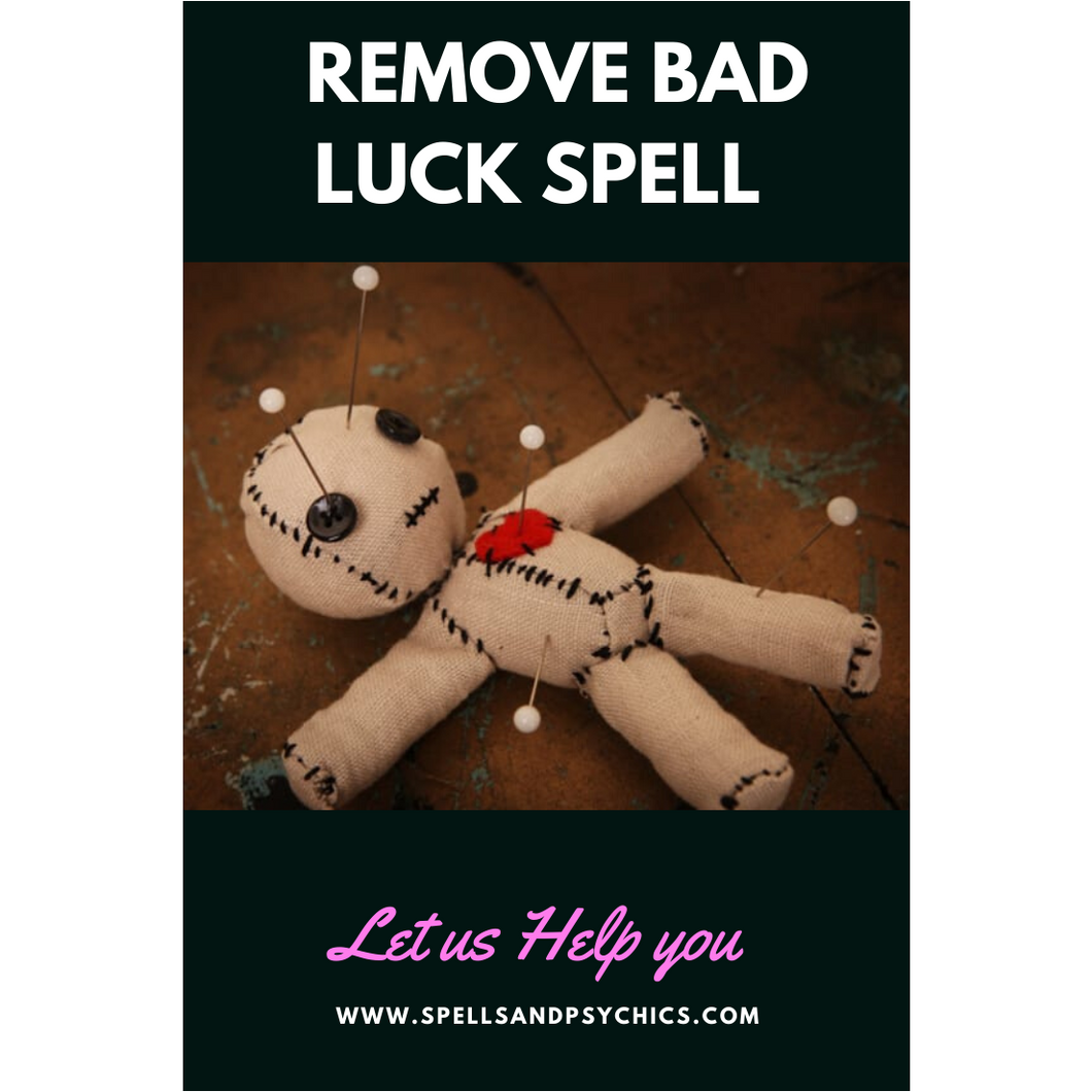 Remove Bad Luck Spell