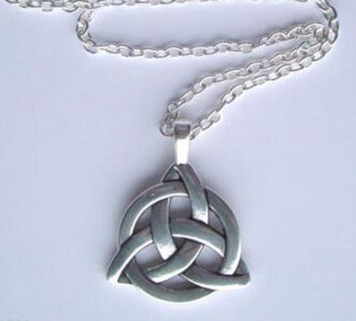 Silver Trinity Thor Wicca Charmed Necklace