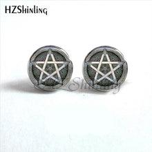 Wiccan Pentagram Occult Earrings