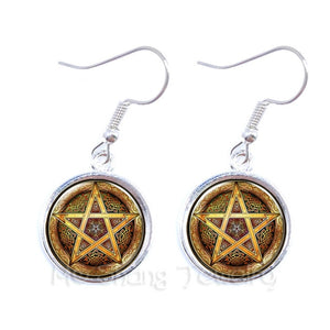 Pentacle Earrings Wicca Pagan Gothic Pentagram