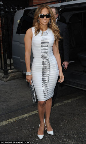 Jennifer Lopez rocks a figure-hugging bandage dress