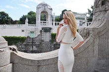 New Arrival Sexy White Two-Piece Bodycon Dress - Kissmiss Ireland