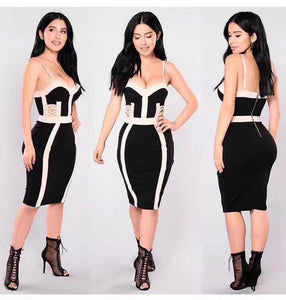 Hollow Out Bandage Dress Sexy Club Dress - kissmissdresses