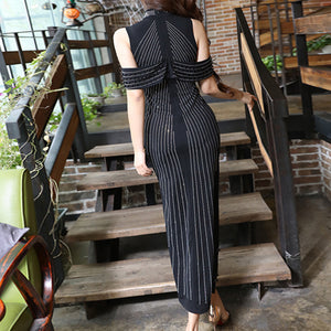 2018 New Sleeveless Turtleneck Beading Sexy Night Out Dress Evening Dress - kissmissdresses