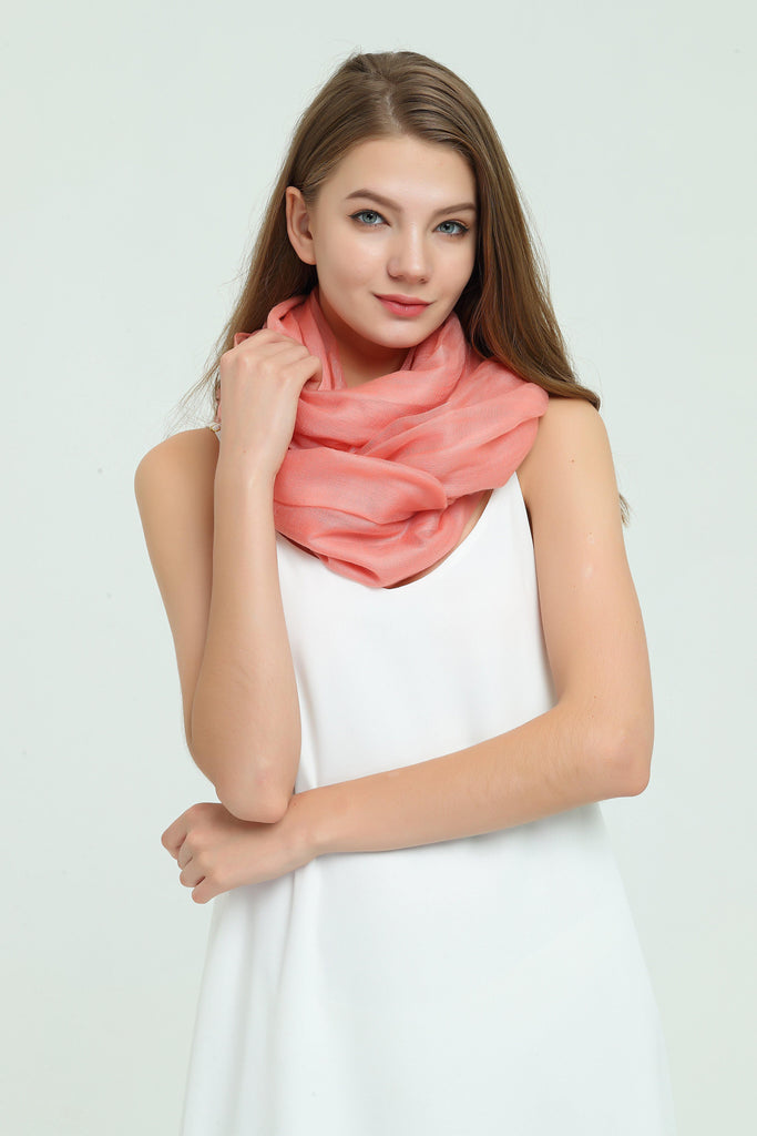 100% Cashmere Featherlight Scarf - Red