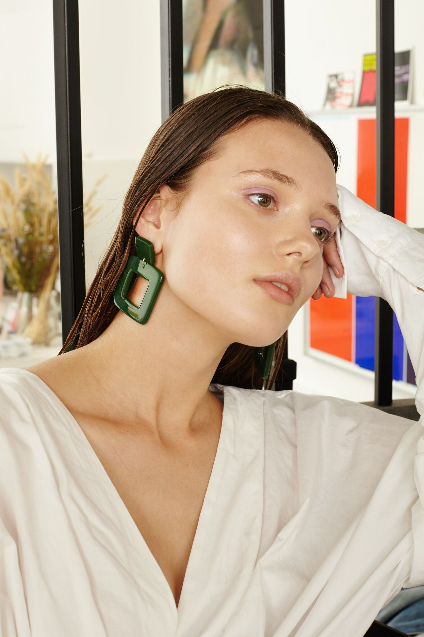 Lois Earrings in Green
