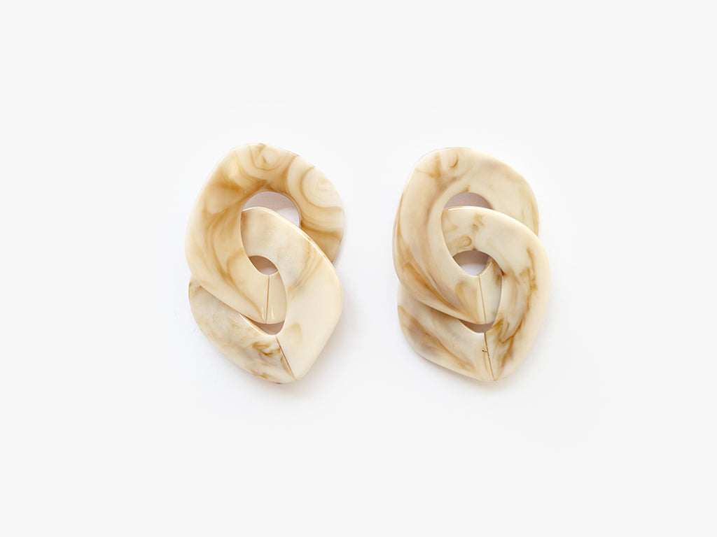 Andrea Earrings in Marble